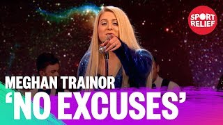 Meghan Trainor performs No Excuses - Sport Relief 2018 - BBC