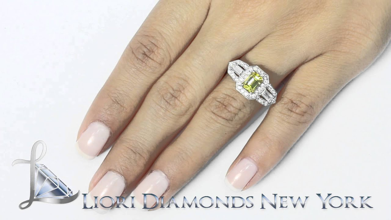 Fd 657 2 44 Carat Fancy Yellow Emerald Cut Diamond