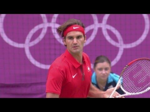 Roger Federer Wins Olympic Semi-Final v Juan Martin Del Potro | London 2012 Olympics