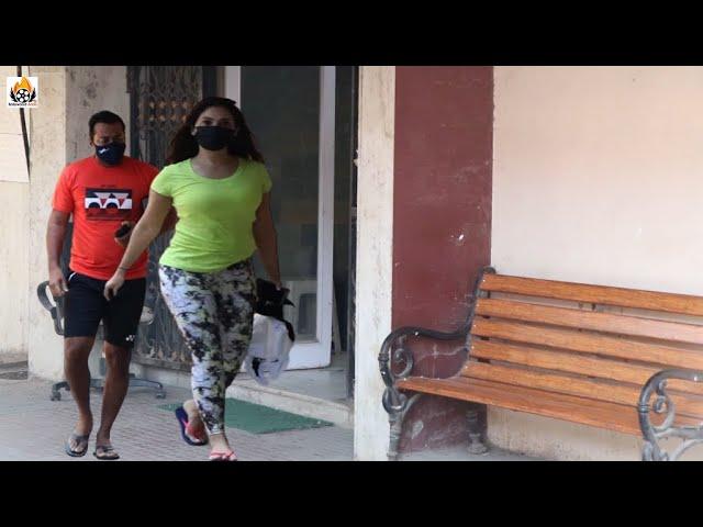 Kim Sharma And Leander Paes Snapped At Pilates In Santacruz