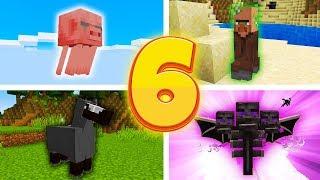 6 DZIWNYCH POŁĄCZEŃ MOBÓW w MINECRAFT!