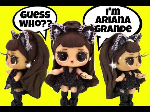 LOL Surprise Doll ARIANA GRANDE CUSTOM Girly Girlz Doll Story Video