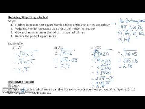 Operations with Radicals (3.4)