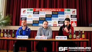 ZFC Meuselwitz - 1. FC Magdeburg 0:0 (0:0) - Pressekonferenz - www.sportfotos-md.de