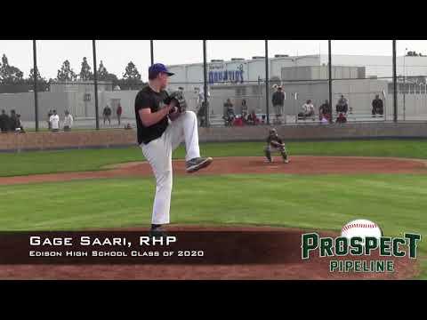 Gage Saari Prospect Video, RHP, Edison High School Class of 2020