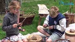 Familiefestival 'Expeditie Steentijd' in Gouverneurstuin