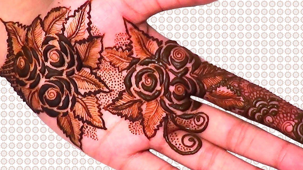 Mehndi Bunch On Arm : Rose bouquets mehndi design youtube