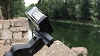 3 pin bow sight fiber plastic machined for quick sight acquisition, basic 3 pin sight