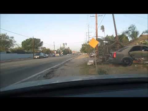 Fontana Wind Damage Car Wreck Mystery October 9 2017 Morning Inland Empire Southern California