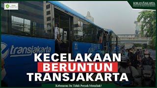 Akibat Sopir Mengantuk, 3 Orang Tewas Penyebab Kecelakaan Beruntun Transjakarta
