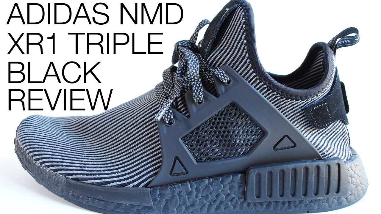 861b8f87e Adidas NMD XR1 Triple Black with Black Boost Review + On Feet