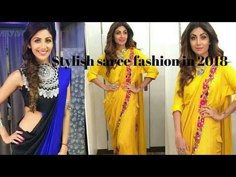 Latest Indian designer saree 2018