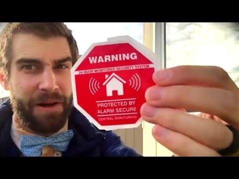 ★★★★★  Five (5) AUTHENTIC Home Security Window / Door Decal Stickers - Amazon