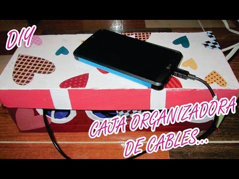 Caja para organizar los cables diy manualidades youtube - Caja para ocultar cables ...