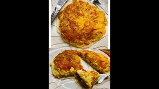 Scrambled  Egg Pancakes Easy & Delicious