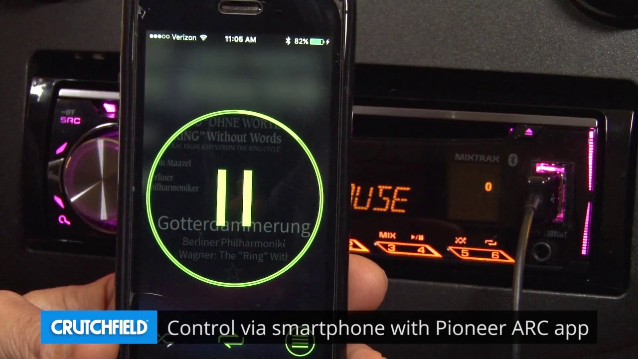 hight resolution of pioneer deh s5000bt display and controls demo crutchfield video