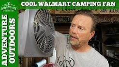 Camping Gear ~ O2 Cool Battery Powered Fan For Camping From Walmart