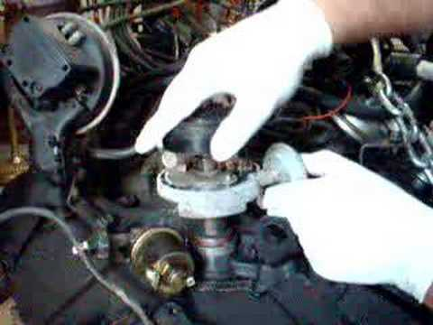 Install chevy small block distributor - YouTube