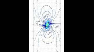 Numerical simulation of two crack interaction Video