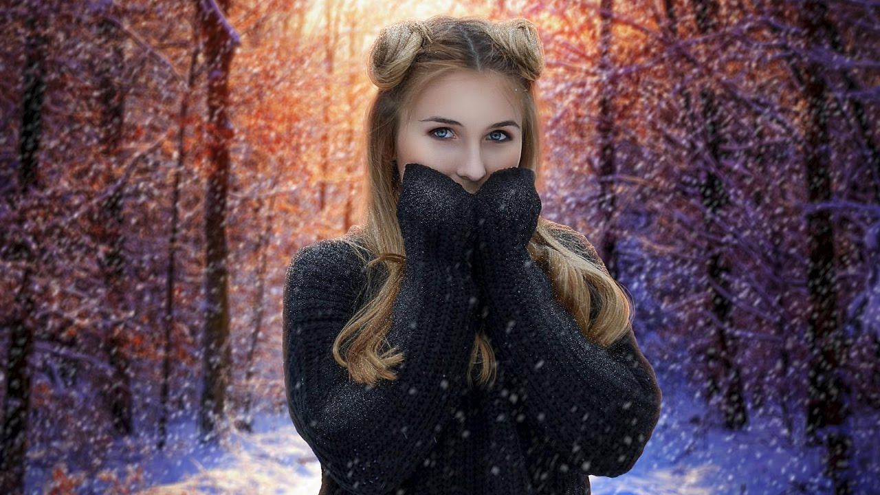 длинный, художественная обработка зимней фотографии может