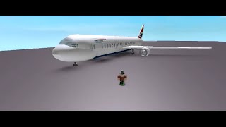 Roblox British Airways CSG Plane