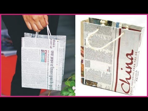How To Make a Paper Bag with Newspaper | Paper Bag Making Tutorial By Golden Hacks