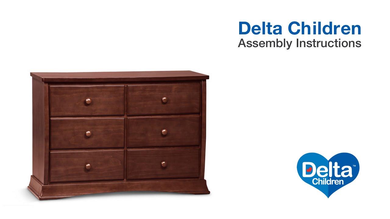 Delta Children Bentley 6 Drawer Dresser Embly Video
