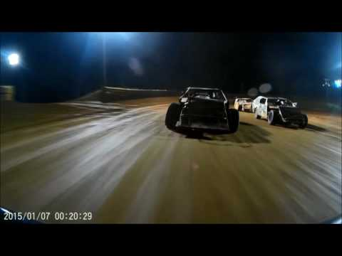 Tyler County Speedway Modified Feature 7-7-2016, Jason Brookover GoPro