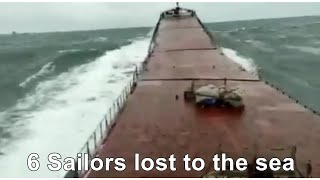 Video of the M/V Arvin breaking in half, 6 sailors lost to the sea.
