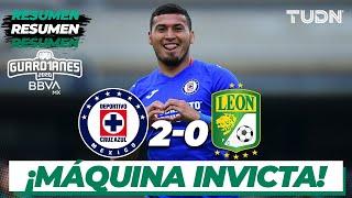 Resumen y goles | Cruz Azul 2-0 León | Guard1anes 2020 Liga BBVA MX -J3 | TUDN
