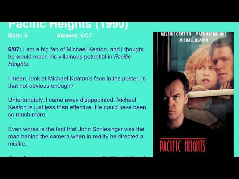 Movie Review: Pacific Heights (1990) [HD]