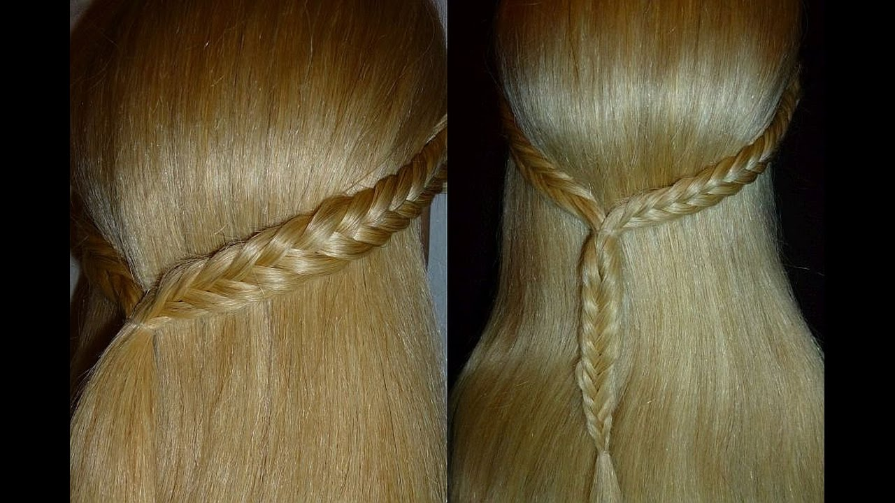 easy & quick fishtail braid hairstyle