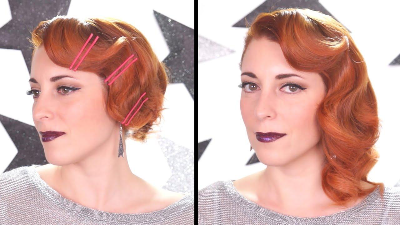 tuto coiffure pour le nouvel an retro moderne bobby pins