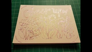 Foiling a Cricut J๐y Insert Card design using the WRMK Foil Quill