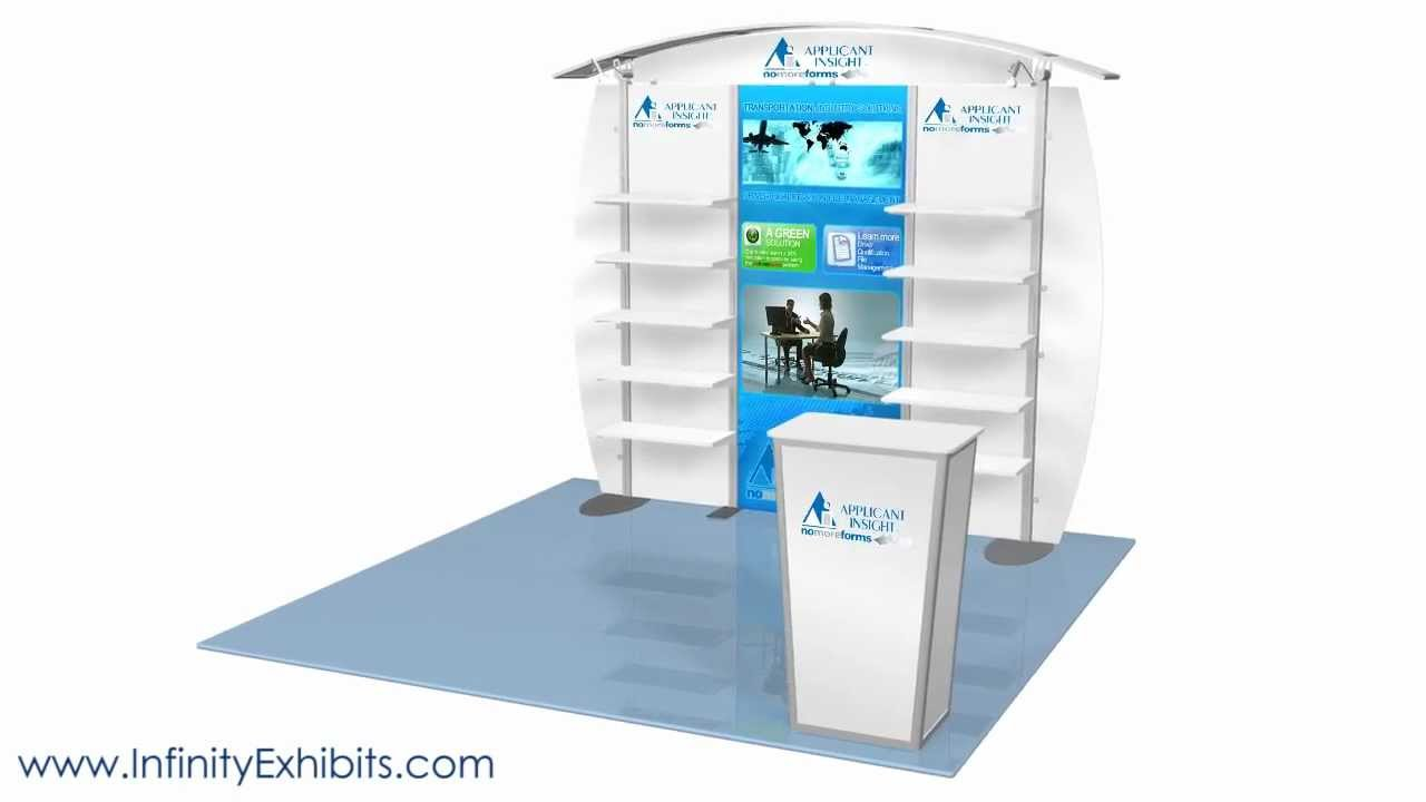 Trade Show Booth With Shelves : Ft modlite arch with shelves trade show display booth