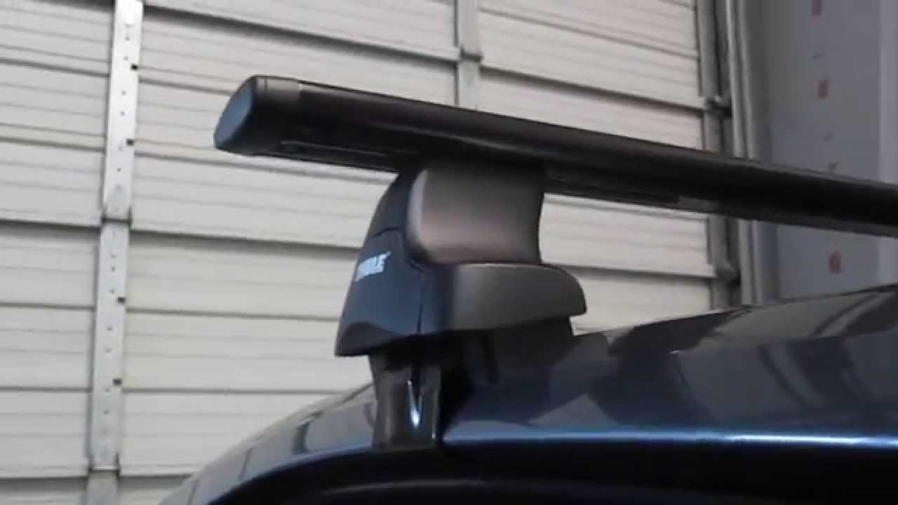 2012 Volkswagen Passat 4 Dr With Thule 480r Traverse Aeroblade Roof Rack By Rack Outfitters