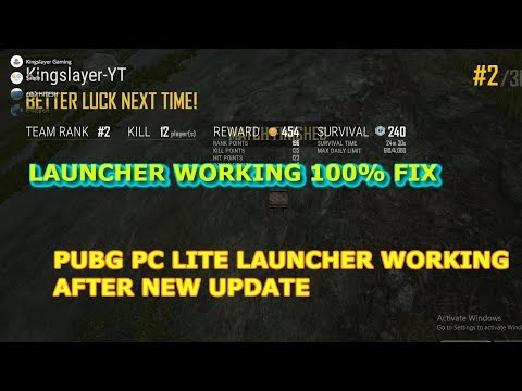 HOW TO FIX LAUNCHER IN PUBG PC LITE: 100% WORKING ITS FIXED