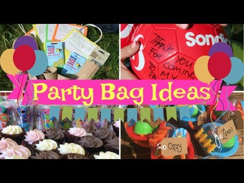8 GREAT PARTY BAG IDEAS - ALTERNATIVE PARTY FAVOURS