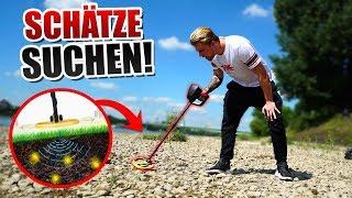 EXPERIMENT: Metalldetektor Schatzsuche ! Gadget Fun !