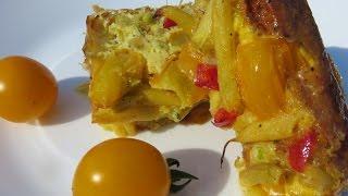 Вкусно! Омлет со спаржевой фасолью и овощами  Отличный завтрак!
