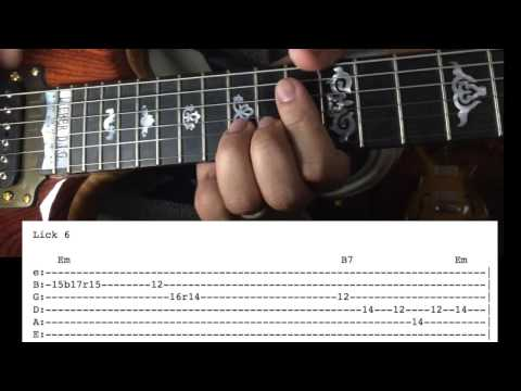 Jerry Garcia Guitar Lesson - Me & My Uncle Solos with Tab
