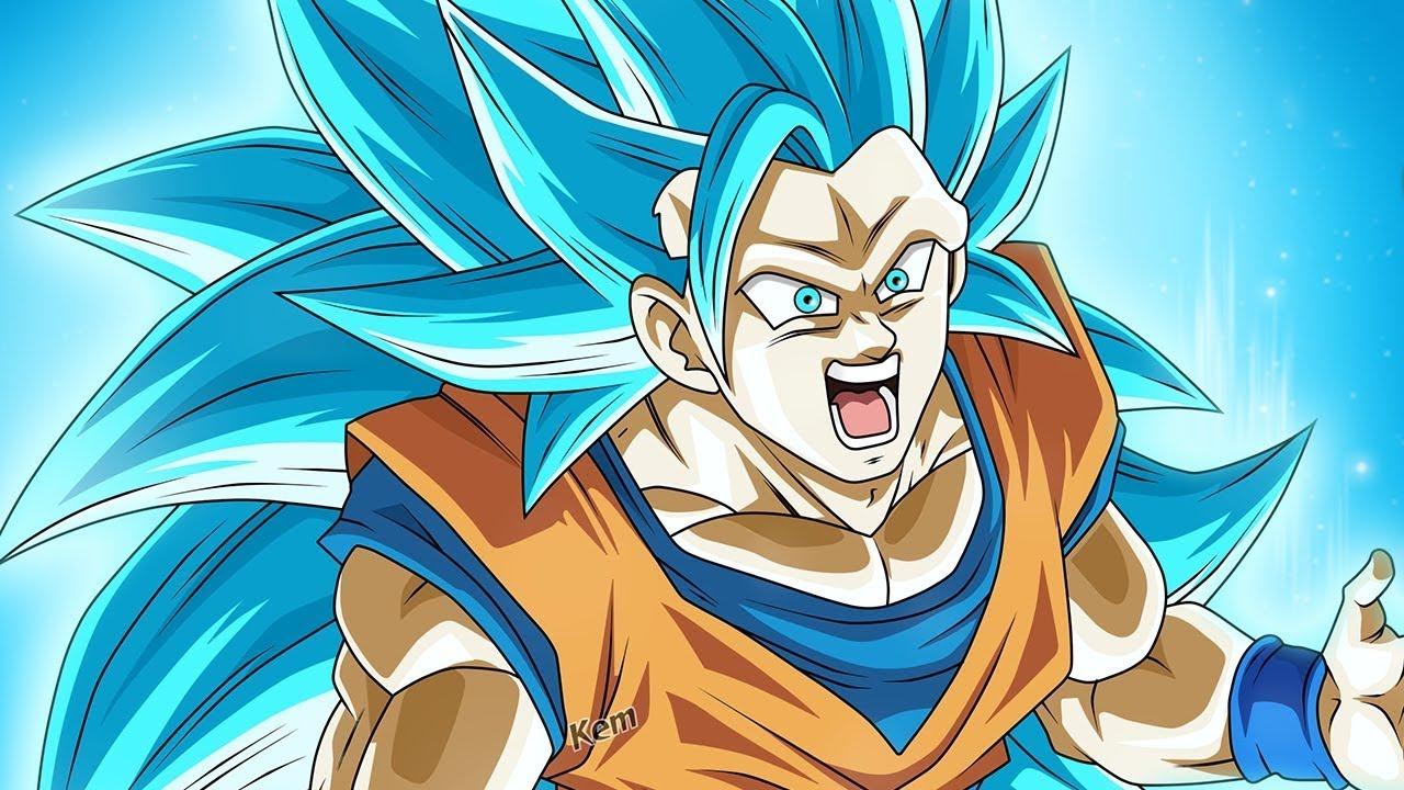 GOKU TRANSFORMS IN SUPER SAIYAN BLUE 3!!!!!