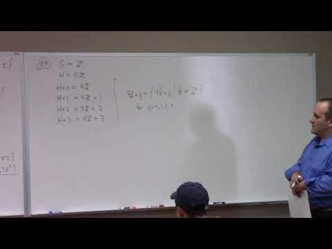 Abstract Algebra: cosets and Lagrange's Theorem, 9-27-17