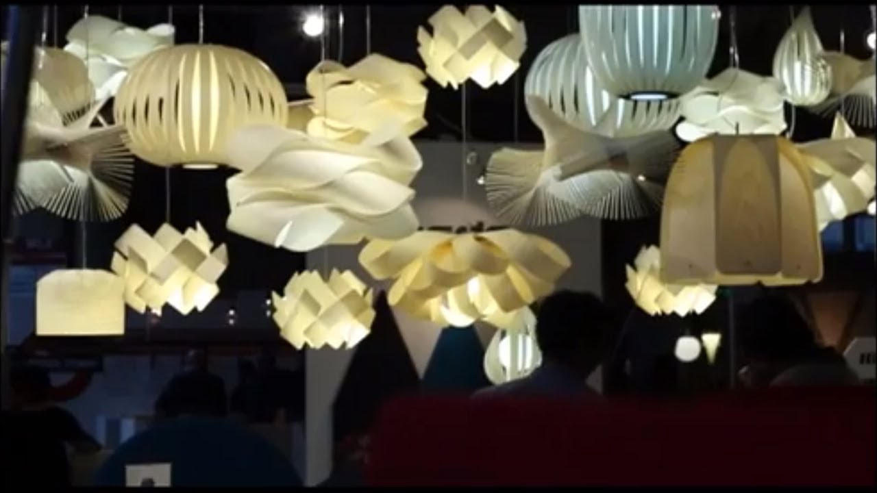 Wood lighting at Design Junction 2013 - LZF Lamps - YouTube