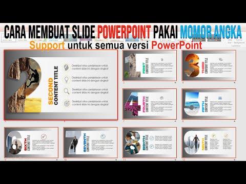 Cara Membuat Slide PowerPoint Pakai Nomor Angka