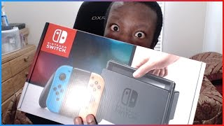 Nintendo Switch with Neon Blue and Neon Red Joy-Con Unboxing w/ JayYTGamer!
