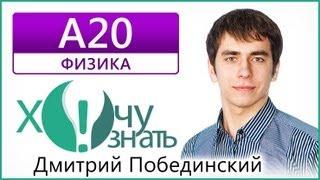 А20 по Физике Демоверсия ЕГЭ 2013 Видеоурок