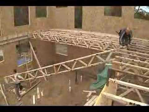 LEED Home floor trusses  YouTube