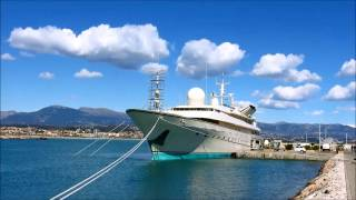 **KINGDOM 5 KR** SUPERYACHT of Prince Al-Waleed One biggest yacht in the world french travel trip