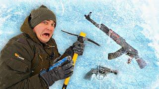 Эти опасные и жуткие находки мы нашли во льдах где пропали рыбаки на замерзшей реке
